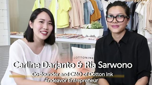 Carline Darjanto dan Ria Sarwono – 2 Founder Cotton Ink